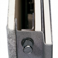 Composite door cutaway shows superior strength & fire protection