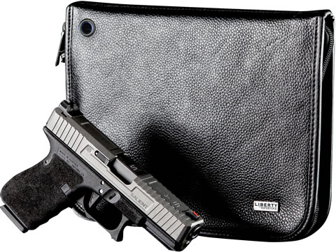 Compact Leather Magnetic Handgun Case
